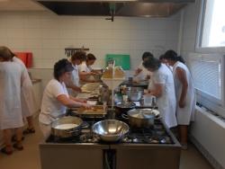 Školenie kuchárok v Jihlave - prax