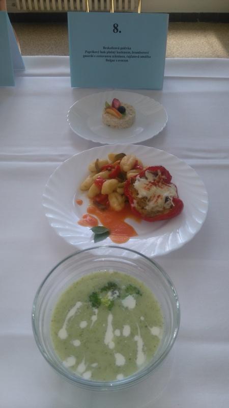 Plněný paprikový lusk a gnocchi - 2. místo